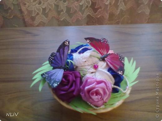 Цветочная корзинка фото 3