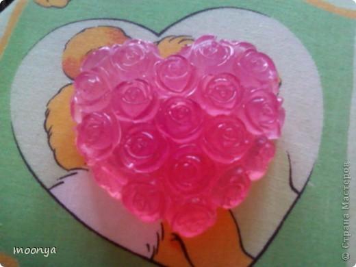 Сердечко в розах, форма собственного изготовления фото 1