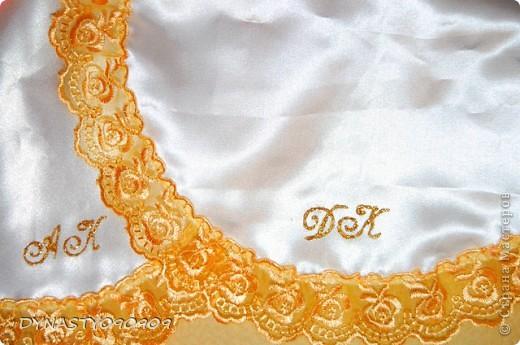 Вот такие у меня получились платочки для свечей на венчание,цвета пришлось подобрать под сами свечи,поэтому так ярко фото 5