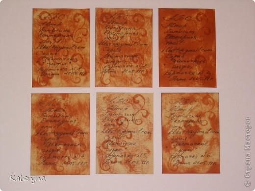 """Здравствуйте,уважаемые жители и гости """"Страны Мастеров""""!Эта серия карточек АТС посвящена творчеству так любимой мною английской художницы Сесиль Мари Баркер. Я использовала акварельную бумагу,штемпельную подушечку,силиконовые штампы,краску с металическим эффектом,половинки прозрачных капель и маленькую фишку на одной из карточек.  фото 10"""