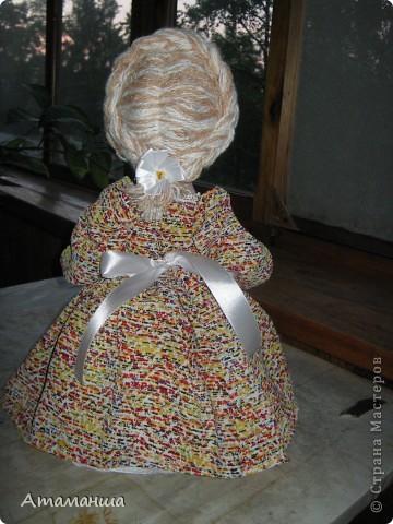 Вот такая Чайная барышня родилась буквально за 2 дня. Сшила на одном дыхании в подарок хорошей женщине. Имя будет давать уже новая  хозяйка, потому что завтра уже барышня уедет в г.Касли на Урал. фото 3