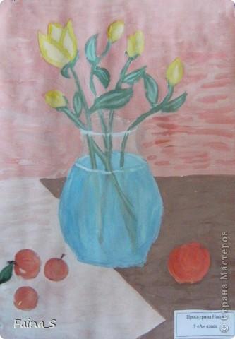 Увидела  на нашем сайте прекрасные декоративные натюрморты http://stranamasterov.ru/node/56987, автор iraida 343. Хочется показать, что получилось у нас. Рекомендации просто необходимы.  Михновская Настя, 6а кл. фото 2