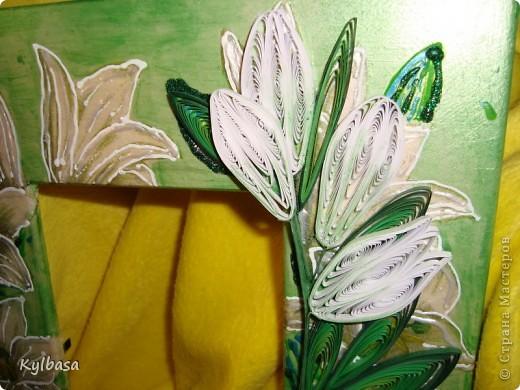 Вот такую рамку для фотографии 10Х15 я смастерила, исполльзуя технику декупажа, квиллинга и росписи контурами. фото 5