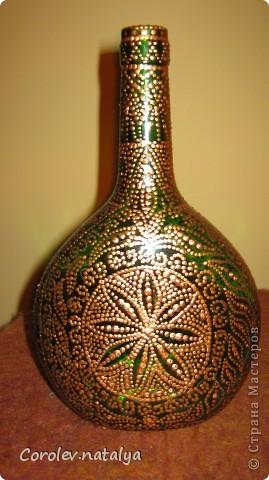 Вот такой графин получился из выброшенной бутылки! фото 5
