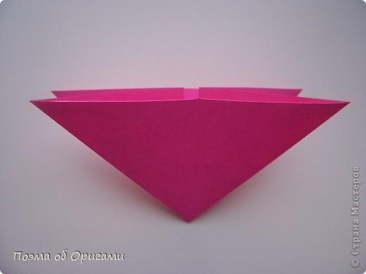Мастер-класс 8 марта День рождения День учителя Начало учебного года Оригами Ваза с цветами Бумага фото 29
