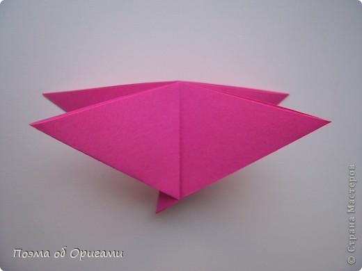 Мастер-класс 8 марта День рождения День учителя Начало учебного года Оригами Ваза с цветами Бумага фото 33