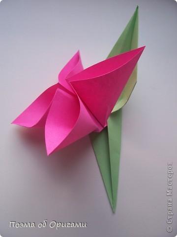 Мастер-класс 8 марта День рождения День учителя Начало учебного года Оригами Ваза с цветами Бумага фото 40