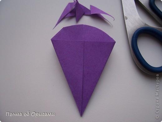 Мастер-класс 8 марта День рождения День учителя Начало учебного года Оригами Ваза с цветами Бумага фото 43