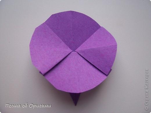 Мастер-класс 8 марта День рождения День учителя Начало учебного года Оригами Ваза с цветами Бумага фото 47