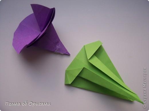 Мастер-класс 8 марта День рождения День учителя Начало учебного года Оригами Ваза с цветами Бумага фото 54