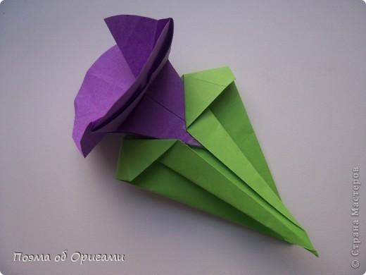 Мастер-класс 8 марта День рождения День учителя Начало учебного года Оригами Ваза с цветами Бумага фото 55