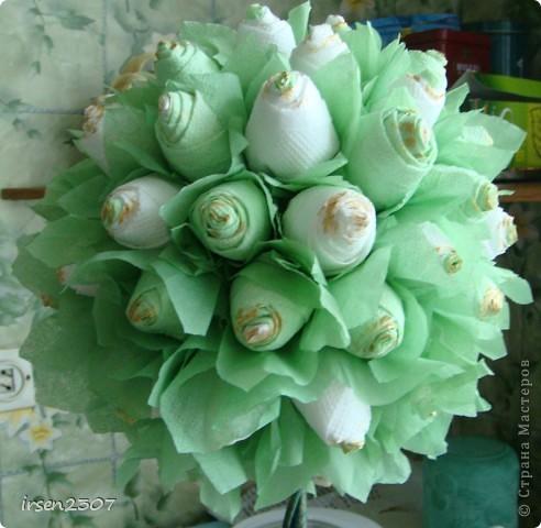 """Топиарий """"Зеленые розы"""" фото 2"""