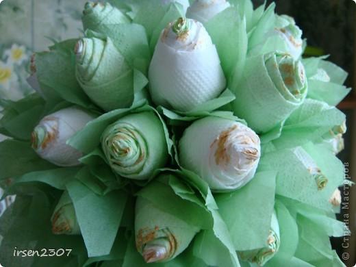 """Топиарий """"Зеленые розы"""" фото 3"""