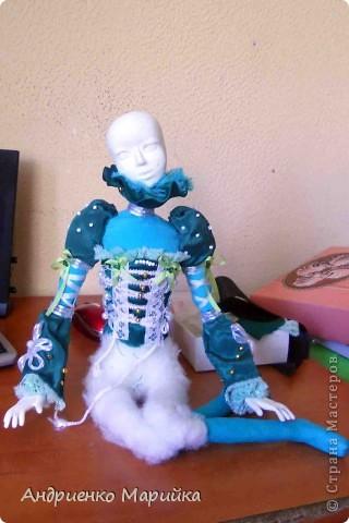 Наконец то я доделала свою третью куклу))) Процесс был долгим, но результат порадовал.. раставалась с ней со слезами на глазах)))... фото 5