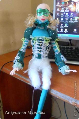 Наконец то я доделала свою третью куклу))) Процесс был долгим, но результат порадовал.. раставалась с ней со слезами на глазах)))... фото 6
