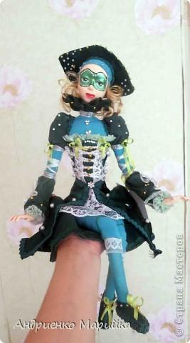 Наконец то я доделала свою третью куклу))) Процесс был долгим, но результат порадовал.. раставалась с ней со слезами на глазах)))... фото 1