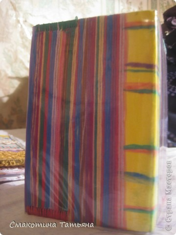 """Обложка номер """"Раз"""")) Сделана из джинсы и ниток мулине фото 5"""