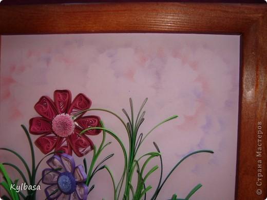 Космеи - первые цветы в технике квиллинг, которые я увидела в Стране Мастеров.  Так они из головы у меня  и не  выходили. Очень хотелось попробовать свои силы в изготовлении этих нежных цветов.  фото 4