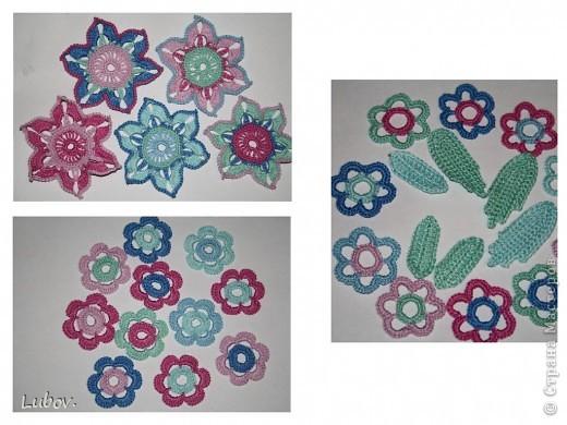 Легкий воздушный берет с красочными цветами, придаст вам женственный летний образ. Ирландское кружево с красивыми цветочными элементами, соединенными хаотичной нерегулярной сеточкой, требует определенного мастерства,  данная модель берета представляет прекрасную возможность для начала освоения этой техники вязания. фото 15