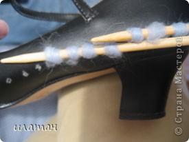 вязанные босоножки,или вторая жизнь балеток фото 18