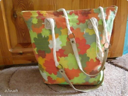 Вот такую пляжную сумку в технике пэчворк сделала моя мама! фото 2