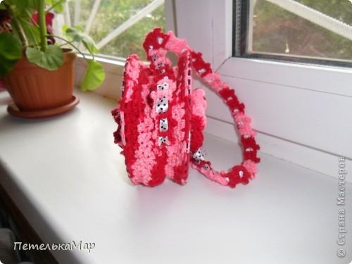 Вот и я связала сумочку из дисков. фото 2