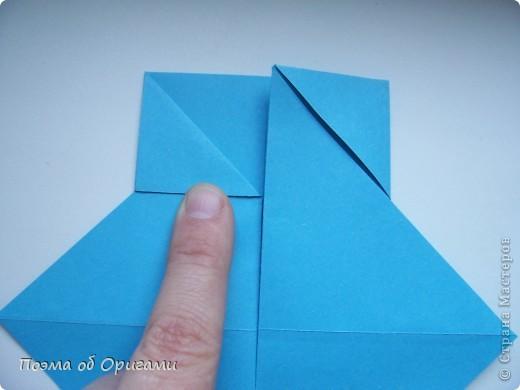 Наш сказочный щенок будет жить в корзинке сложенной в технике оригами, как и он сам.  Идея его создания забавного песика принадлежит Эдвину Кови, а вот корзинку придумал Альдо Патиниьяно. фото 10