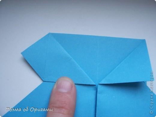 Наш сказочный щенок будет жить в корзинке сложенной в технике оригами, как и он сам.  Идея его создания забавного песика принадлежит Эдвину Кови, а вот корзинку придумал Альдо Патиниьяно. фото 13