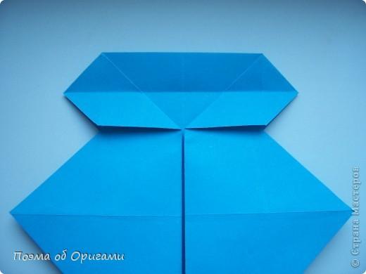 Наш сказочный щенок будет жить в корзинке сложенной в технике оригами, как и он сам.  Идея его создания забавного песика принадлежит Эдвину Кови, а вот корзинку придумал Альдо Патиниьяно. фото 15