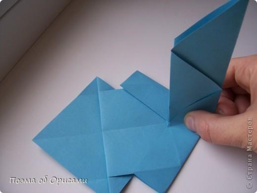 Наш сказочный щенок будет жить в корзинке сложенной в технике оригами, как и он сам.  Идея его создания забавного песика принадлежит Эдвину Кови, а вот корзинку придумал Альдо Патиниьяно. фото 20