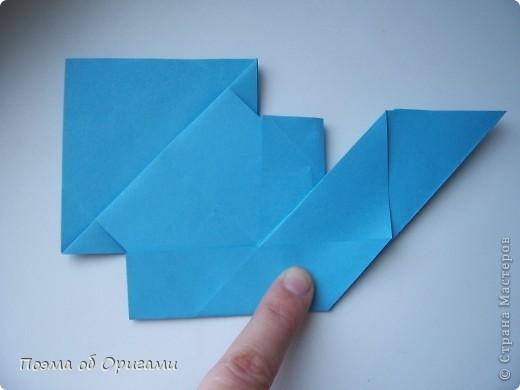 Наш сказочный щенок будет жить в корзинке сложенной в технике оригами, как и он сам.  Идея его создания забавного песика принадлежит Эдвину Кови, а вот корзинку придумал Альдо Патиниьяно. фото 21