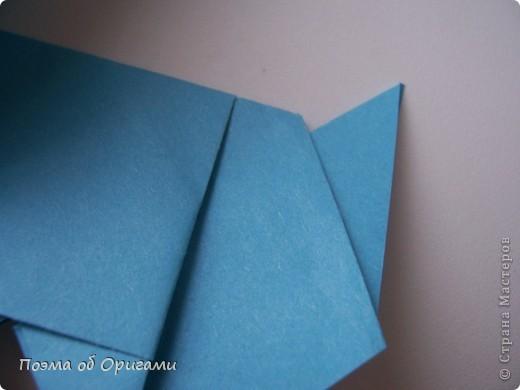Наш сказочный щенок будет жить в корзинке сложенной в технике оригами, как и он сам.  Идея его создания забавного песика принадлежит Эдвину Кови, а вот корзинку придумал Альдо Патиниьяно. фото 32