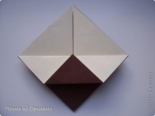 Наш сказочный щенок будет жить в корзинке сложенной в технике оригами, как и он сам.  Идея его создания забавного песика принадлежит Эдвину Кови, а вот корзинку придумал Альдо Патиниьяно. фото 38
