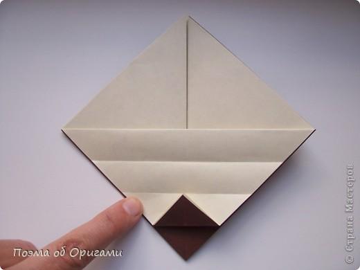 Наш сказочный щенок будет жить в корзинке сложенной в технике оригами, как и он сам.  Идея его создания забавного песика принадлежит Эдвину Кови, а вот корзинку придумал Альдо Патиниьяно. фото 40