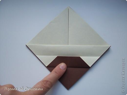 Наш сказочный щенок будет жить в корзинке сложенной в технике оригами, как и он сам.  Идея его создания забавного песика принадлежит Эдвину Кови, а вот корзинку придумал Альдо Патиниьяно. фото 41