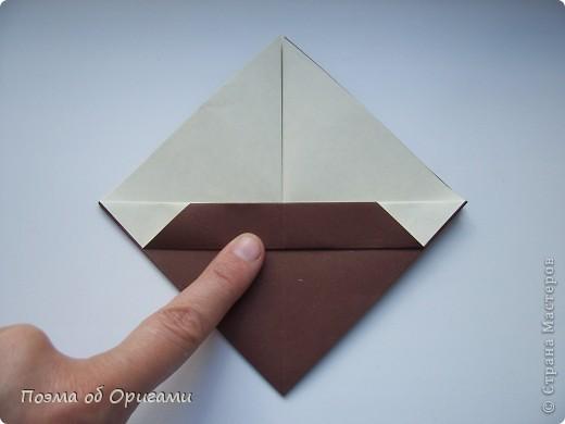 Наш сказочный щенок будет жить в корзинке сложенной в технике оригами, как и он сам.  Идея его создания забавного песика принадлежит Эдвину Кови, а вот корзинку придумал Альдо Патиниьяно. фото 42