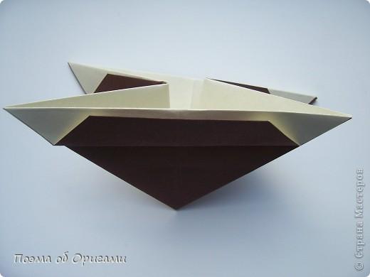 Наш сказочный щенок будет жить в корзинке сложенной в технике оригами, как и он сам.  Идея его создания забавного песика принадлежит Эдвину Кови, а вот корзинку придумал Альдо Патиниьяно. фото 43