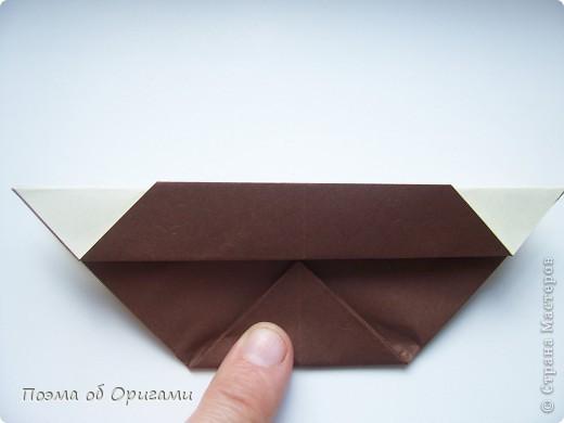 Наш сказочный щенок будет жить в корзинке сложенной в технике оригами, как и он сам.  Идея его создания забавного песика принадлежит Эдвину Кови, а вот корзинку придумал Альдо Патиниьяно. фото 44