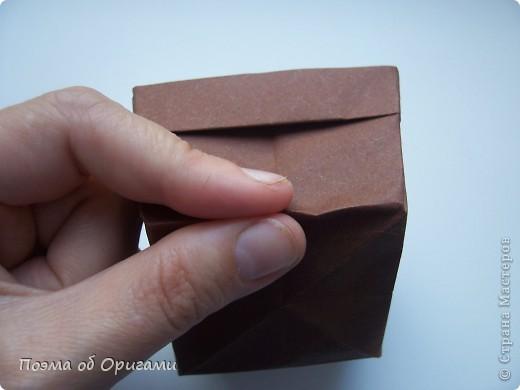 Наш сказочный щенок будет жить в корзинке сложенной в технике оригами, как и он сам.  Идея его создания забавного песика принадлежит Эдвину Кови, а вот корзинку придумал Альдо Патиниьяно. фото 50