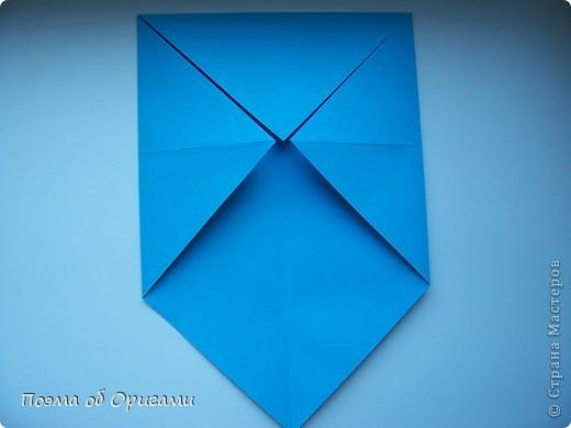 Наш сказочный щенок будет жить в корзинке сложенной в технике оригами, как и он сам.  Идея его создания забавного песика принадлежит Эдвину Кови, а вот корзинку придумал Альдо Патиниьяно. фото 6