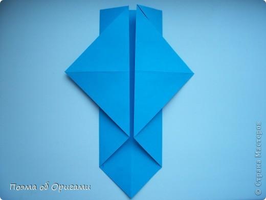 Наш сказочный щенок будет жить в корзинке сложенной в технике оригами, как и он сам.  Идея его создания забавного песика принадлежит Эдвину Кови, а вот корзинку придумал Альдо Патиниьяно. фото 9