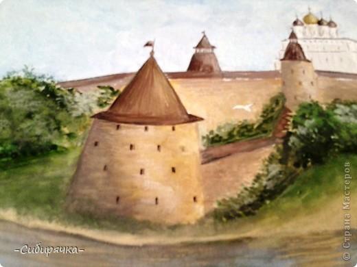Псковский кремль. Акрил. фото 2