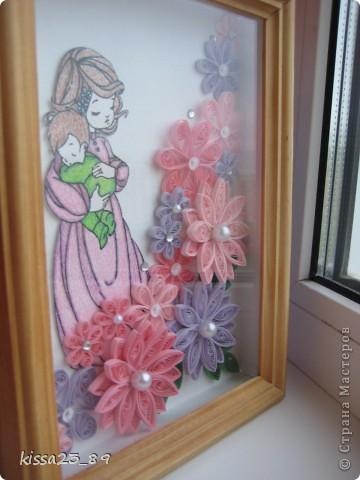 Сделала картину в подарок  на день рождения для будущей мамы,мамой она станет во второй раз))) Малыш мы тебя все ждём))) фото 3