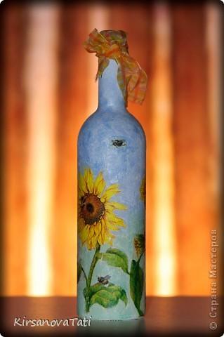 """Бутылка """"Подсолнухи"""" фото 1"""