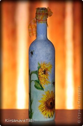 """Бутылка """"Подсолнухи"""" фото 2"""