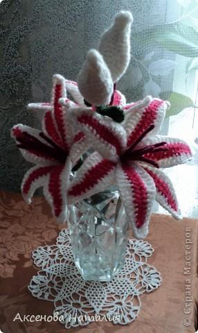 Вязаные лилии фото 3