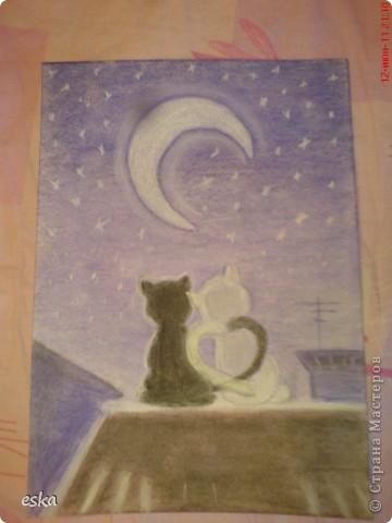 Мой  первый рисунок пастелью фото 1