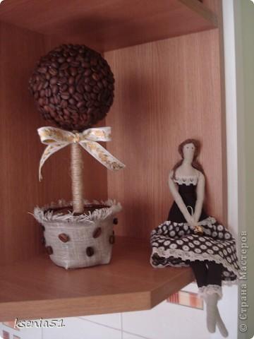 Вот такое деревце кофейное получилось в тандеме с кофейной Тильдой (ее показывала раньше) фото 3