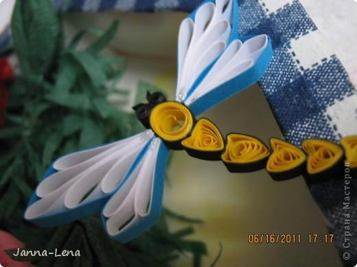 """Чайник """"Белиссимо"""" Цветы из салфеток. фото 3"""
