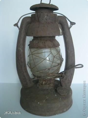Вот такую красивую,старую,но очень ржавую лампу мне подарили... фото 1